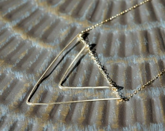 Chevron Necklace, Double Chevron Necklace, Handmade Necklace, V Necklace, Geometric Necklace, 14K Gold Filled, Birthday Gift