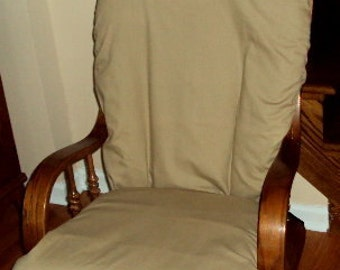 Glider Rocker Slip Cover FOR YOUR Glider Cushions -    Khaki   Slipcover or Any Color you choose.