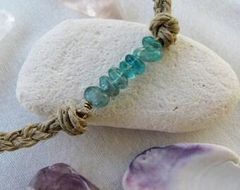 Caribbean Blue Apatite Pebble Choker