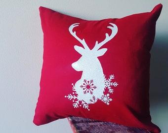 Festive Stag Slipcover, Cushion Cover, Envelope Back, Home Decor, Festive Christmas