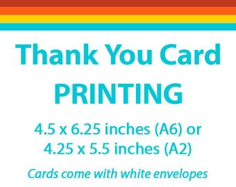 Thank You Card Professional Printing