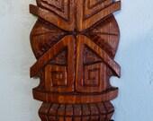 X Eyes Tiki Plank Carving