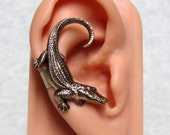 Alligator Steampunk Ear Cuff ( medium )