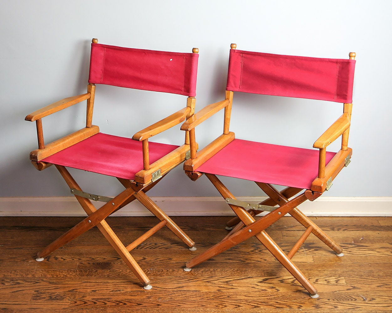 Vintage Wooden Director Chairs Folding Wooden Chairs Mid