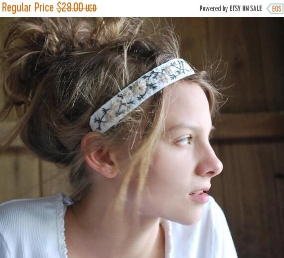 SUMMER SALE Boho Headband, Festival Headband, Embroidered Headband, Woodland Wedding, Women's Headband, Forest Wedding