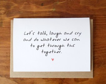 Let's Talk - Sympathy/Thinking of you Card