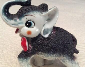 20% OFF SALE Vintage Kitschy Sugar Elephant Figurine made by Arnart in Japan 1950s
