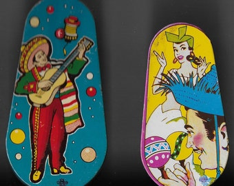 Vintage Mid Century Tin Party Noise Makers