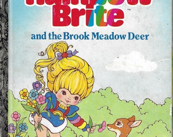 Vintage 1980's Children's A Golden Book - Rainbow Bright And The Brook Meadow Deer