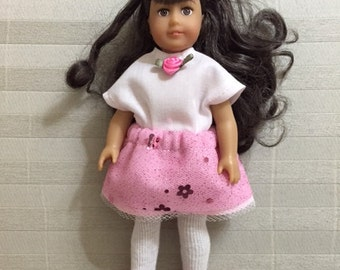 Fancy skirt and top for Mini AG Doll