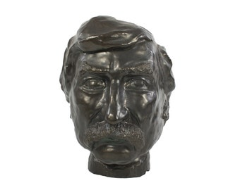 Mark Twain Bust - One of a Kind - Pottery Sculpture - Unusual Artwork