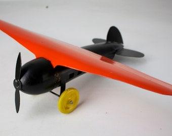 Wyandotte Pressed Steel Airplane -Classic Black & Orange/Price Reduced Further