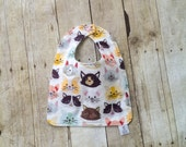 Infant Bib - Eco Organic - Organic French terry  Bib - Toddler Bib