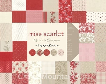 Miss Scarlet Fat Quarter Bundle by Minick & Simpson for Moda