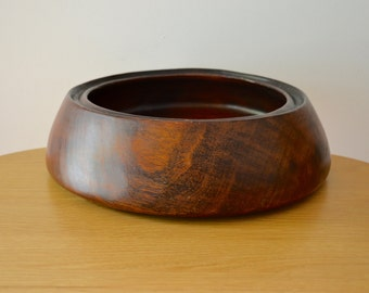 Large David Auld Hand Carved Wood Bowl - Made in Haiti