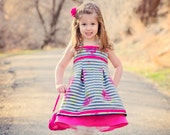 Evening Primrose Dress pattern 12-18m 18-24m 2t 3t 4t 5t 6 7 8 10 12 14