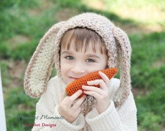 Floppy Ears Bunny Hat, Baby Bunny Hat, Beige Bunny Hat, Neutral Bunny, Newborn Photo Prop, Newborn Bunny Ears Hat, Bunny Bonnet, Easter Hat