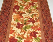 Autumn Table Runner  quilted focus fabrics from Timeless Treasure Thanksgiving