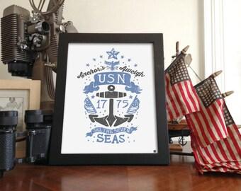 US Navy Matte Print (unframed) 8x10