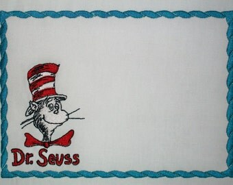 Dr. Seuss (TM) Cat in the Hat (TM) quilt label to customize with your personal message