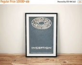 GEEKLOVE SALE The Inside Man // Inception Alternate Movie Poster // , Vintage Science Fiction Dream Maze with Multiple Levels Illustration