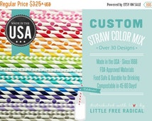 3 DAY SALE CUSTOM Straw Mix - You Choose from Over 50 Colors &  Patterns - - - Stripe - Chevron  - Polka Dot - - - Made in America