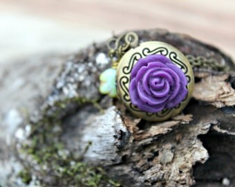 Rose Locket Necklace