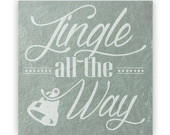 Tile - Large Slate 12in - 13865 Jingle All The Way