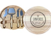 Custom Cheese Board Set: Laser Etched Name - Perfect for a Shower, Wedding, or Housewarming Gift