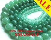 HOLIDAY SEASON SALE! Bulk buy, natural aventurine beads, 4-14mm size mixed 6 strands,  round shape, green color