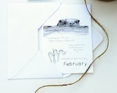 February - Wild Month Blank Card