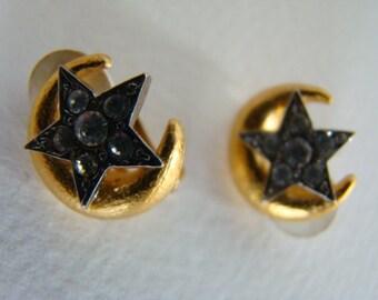 Balenciaga moon star earrings