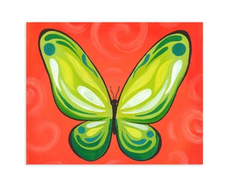 Colorful Butterfly Wall Art - Original Print
