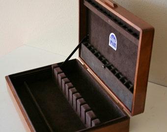 Vintage Naken's Silverware Chest, Solid Wood, Dovetail