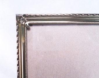 Brass 8 x 10 Table/Wall Frame w/ Corner Mounts Vintage 60s #235