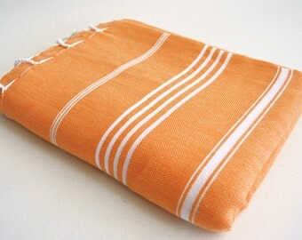 SALE 30 OFF / Classic Blanket / Orange / Beach blanket, Picnic blanket, Sofa throw, Tablecloth, Bedcover