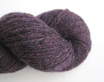 Recycled Shetland Wool Lace Yarn, Muted Purple, Lot 041115