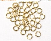 SALE 100 pcs Gold Open Jump Rings Jumpring, 4mm Ring Connector, C7-005p