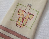 Beer Good Times Hawaii Kitchen Towel Hand Embroidered