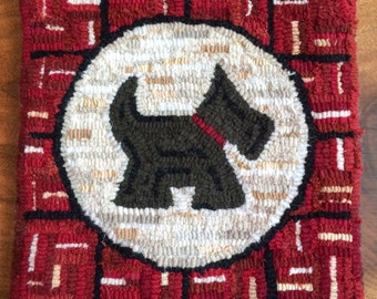 Scotty Dog Rug Hooking Pattern