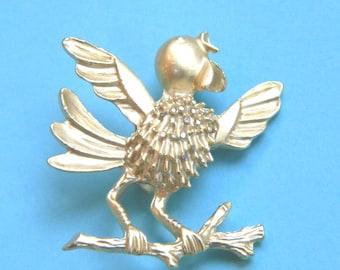 Happy Singing Bird Brooch