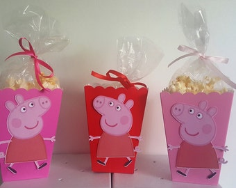 Peppa Pig Snack Boxes - Set of 10