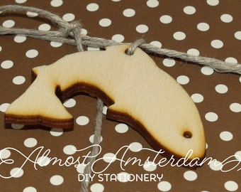 Wooden Fish Charms - Embellishments - Invitation Decorations - Please Select Pack Size