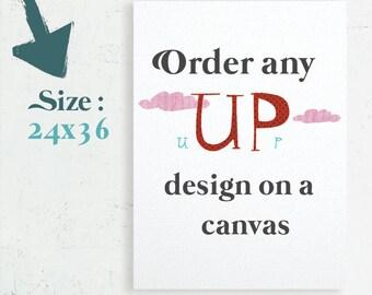 Canvas Art, Home Decor, Nursery Canvas, Bedroom Decor, Canvas gift, Gallery Wrap Canvas, 24x36 canvas