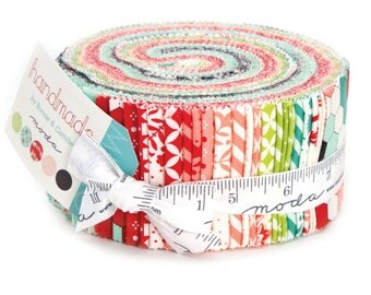 Moda Handmade Jelly Roll by Bonnie and Camille 2.5 inch Fabric Strips