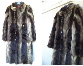 Full length fur coat | Etsy