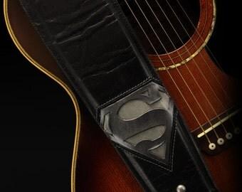 Superman Guitar Strap, Superhero Guitar Strap:  Metropolis Guitar Strap