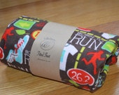 Flannel Fitted Crib Sheet -  Born to Run - SALE