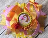 NEW ITEM Boutique Baby Girls Layered Disney Inspired Belle Hair Bow Clip, Belle Hair Bow, Belle Hair Clip, Disney Inspired Belle