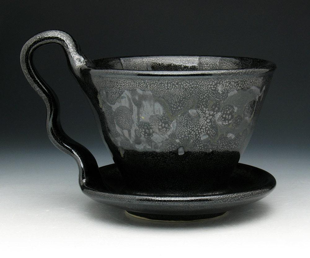 Pour Over Coffee Maker Ceramic : Black Skulls Pour Over Filter Ceramic Pour Over Coffee Maker